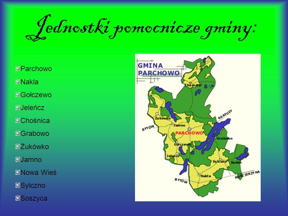 Jednostki pomocnicze gminy: Parchowo Nakla Gołczewo Jeleńcz Chośnica Grabowo Żukówko Jamno Nowa Wieś Sylczno Soszyca