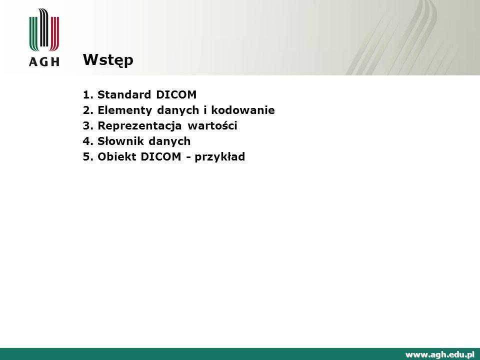 DICOM Digital Imaging and Communications in Medicine Obrazowanie Cyfrowe i Wymiana Obrazów w Medycynie 1.