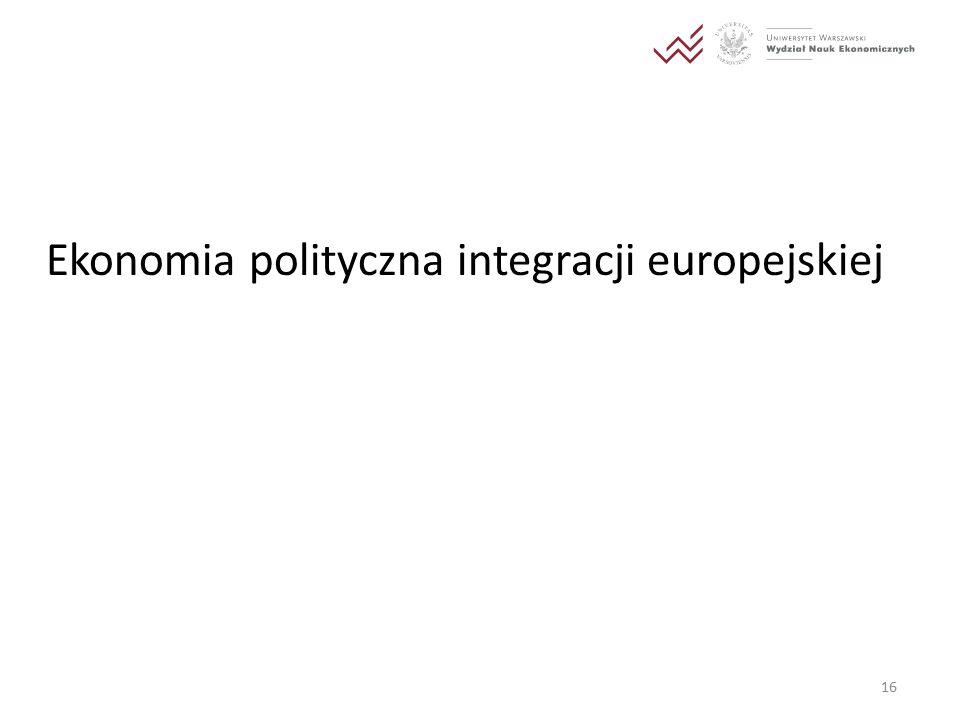Ekonomia polityczna integracji europejskiej 16