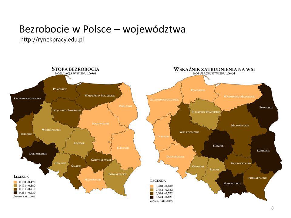 8 Bezrobocie w Polsce – województwa http://rynekpracy.edu.pl