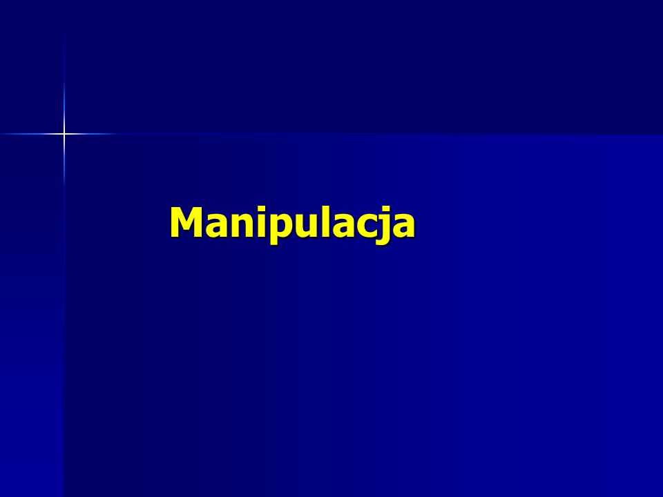 Czym jest manipulacja.