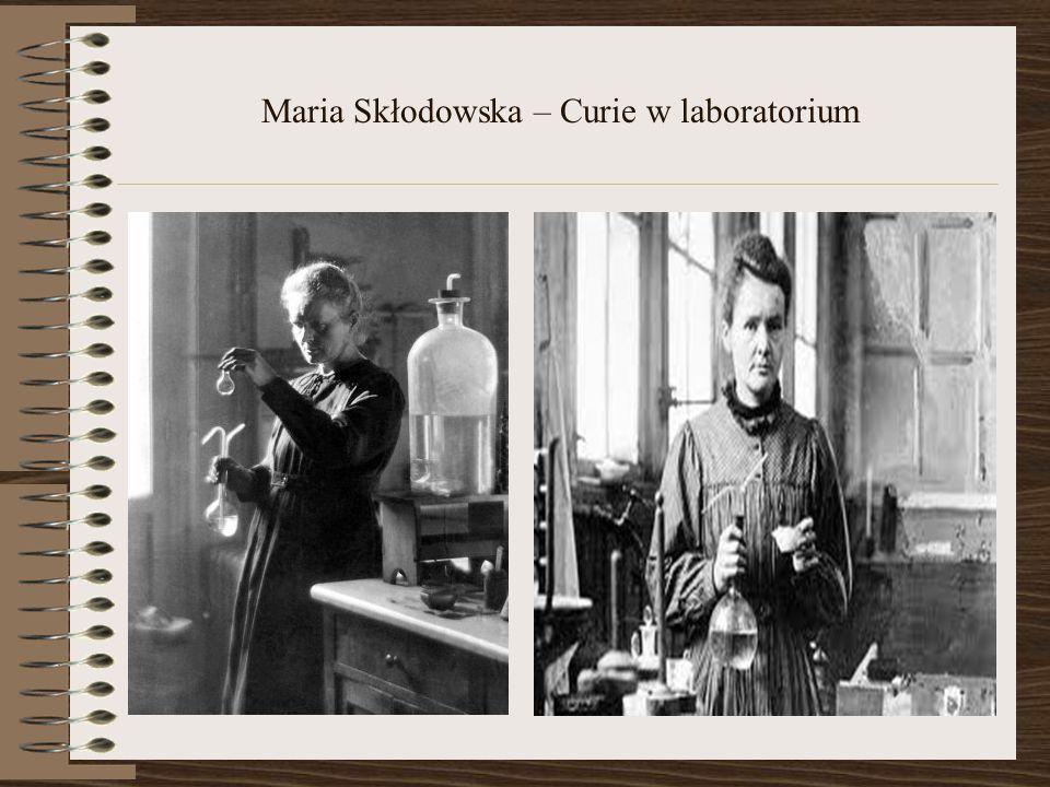 Maria Skłodowska – Curie w laboratorium