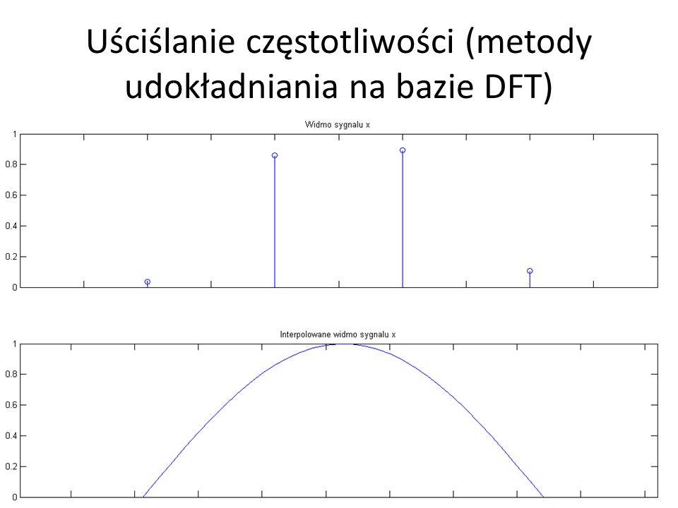 Uściślanie częstotliwości (metody udokładniania na bazie DFT) metoda z zastosowaniem interpolacji: