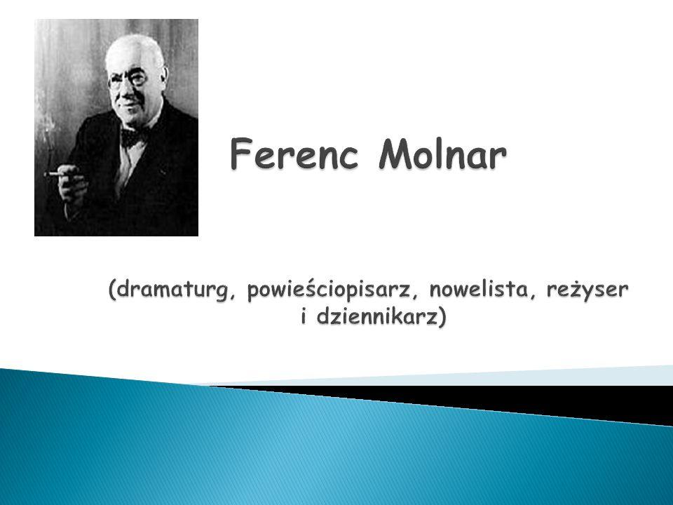 Urodził się 12 stycznia 1878 roku w Budapeszcie, Uczył się w kalwińskim gimnazjum – egzamin końcowy zdał z wyróżnieniem, W wieku 18 lat zaczął pracę jako dziennikarz, Studiował prawo na Uniwersytecie w Budapeszcie i Genewie, ( zasłynął reportażami w których opisywał międzynarodowe wydarzenia ze świata polityki i nauki ) Uczęszczał na liczne przedstawienia teatralne, W 1918 roku został członkiem Węgierskiej Akademii Nauk, Otrzymał liczne nagrody i wyróżnienia za swoją twórczość (m.in.: Order Legii Honorowej za sztukę,, Łabędź'' ) W 1940 roku udał się do Stanów Zjednoczonych gdzie wydał dwie kolejne książki i cieszył się sławą wielkiego dramaturga, Zmarł w kwietniu 1952 roku Nowym Yorku