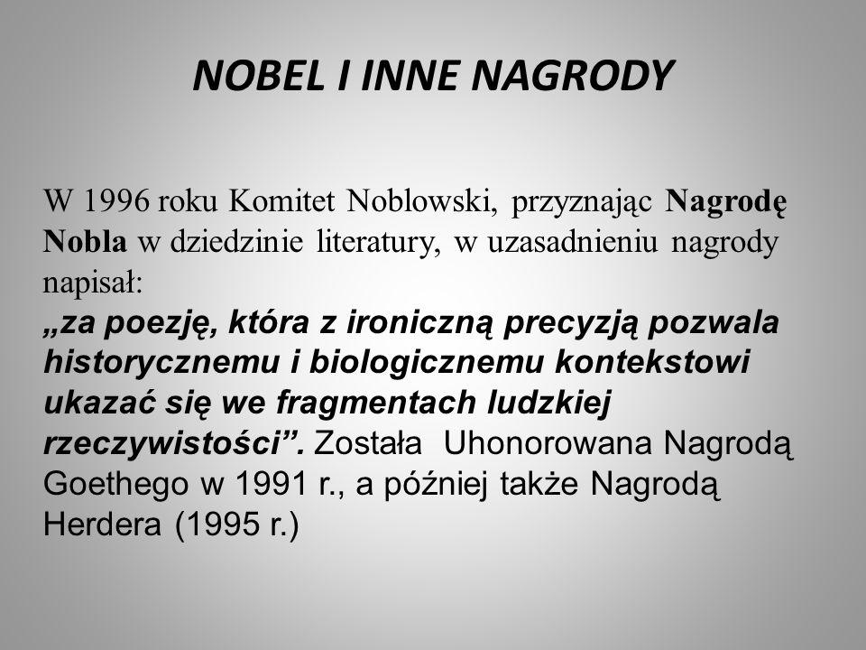 NOBEL I INNE NAGRODY Laureat nagrody Nobla w roku 1980 otrzymał nagrodę za całokształt tw ó rczości.