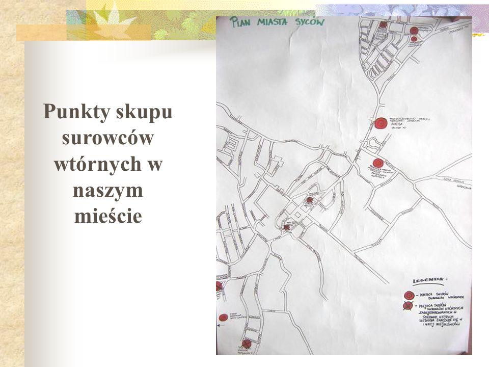 Zadanie 3.3. Funkcjonowanie skupu surowców wtórnych w gminie Zbierz dane na temat istniejących punktów skupu na terenie naszej gminy Przygotuj analizę
