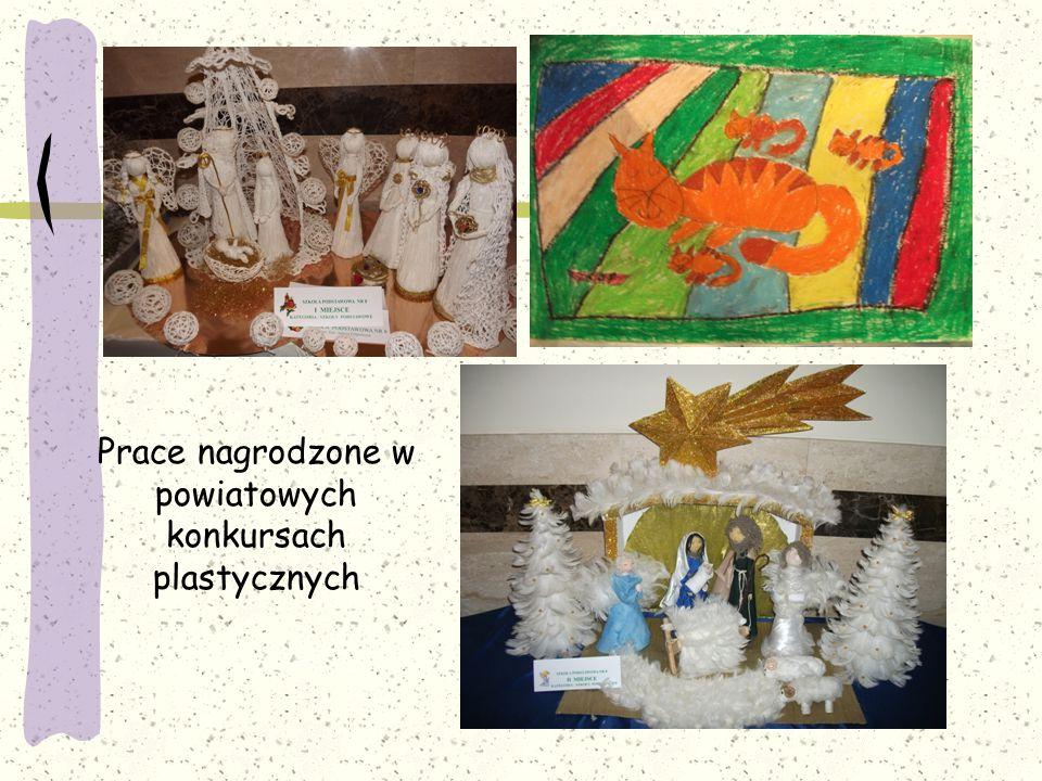 Prace nagrodzone w powiatowych konkursach plastycznych