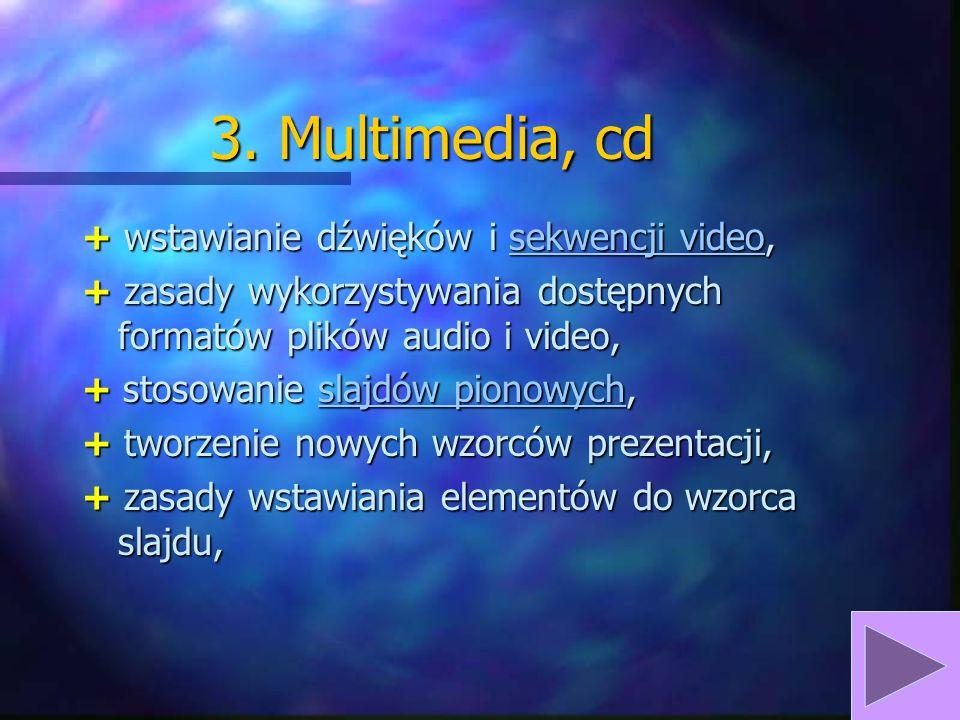 3. Multimedia, cd + formatowanie wykresów, + wstawianie grafiki z plików zewnętrznych, wstawianie grafikiwstawianie grafiki + zasady wykorzystywania d