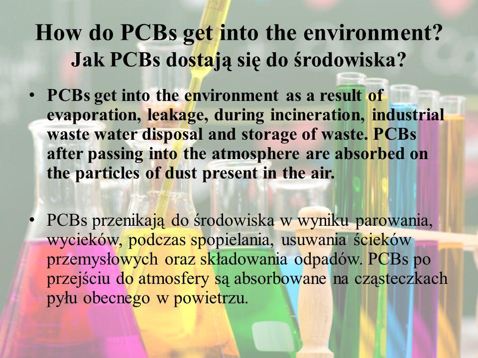 How do PCBs get into the environment.Jak PCBs dostają się do środowiska.