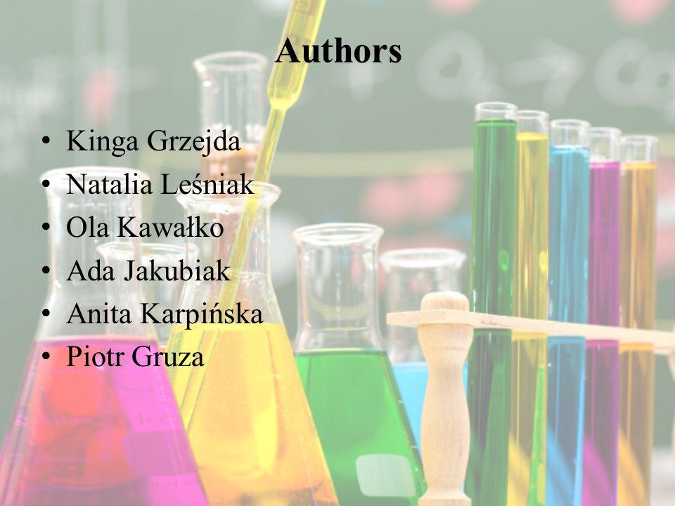 Authors Kinga Grzejda Natalia Leśniak Ola Kawałko Ada Jakubiak Anita Karpińska Piotr Gruza