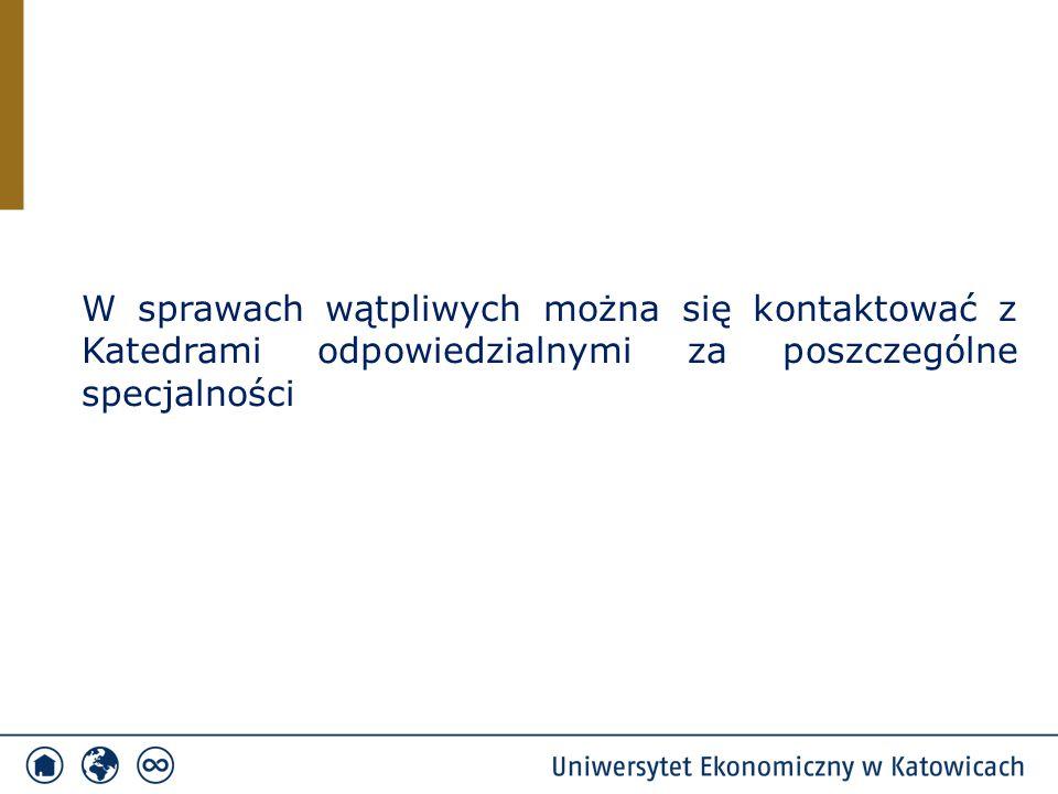 Opiekun Studiów Niestacjonarnych Joanna Turek-Węcel tel.