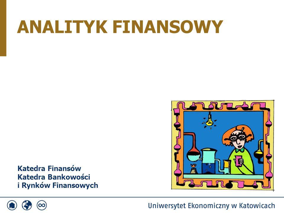 NAZWA SPECJALNOŚCIKATEDRA 1. Analityk FinansowyFinansów oraz Bankowości i Rynków Finansowych 2.