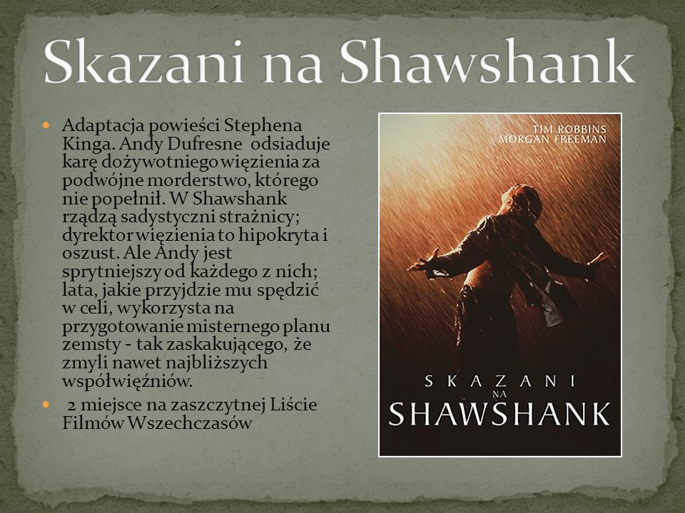 Adaptacja powieści Stephena Kinga.
