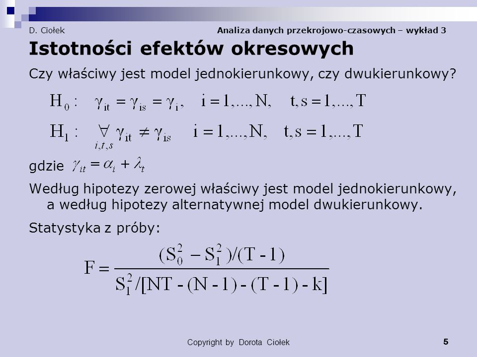 Copyright by Dorota Ciołek 5 D.