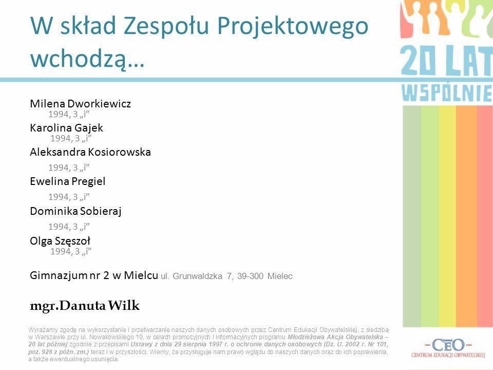 """Milena Dworkiewicz 1994, 3 """"i"""" Karolina Gajek 1994, 3 """"i"""" Aleksandra Kosiorowska 1994, 3 """"i"""" Ewelina Pregiel 1994, 3 """"i"""" Dominika Sobieraj 1994, 3 """"i"""""""