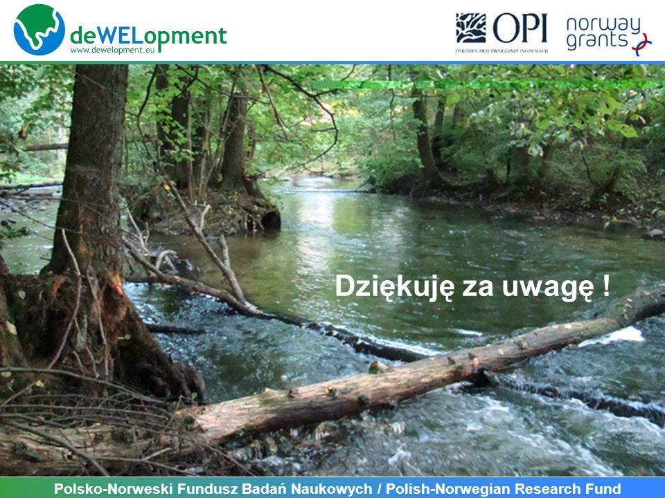 Polsko-Norweski Fundusz Badań Naukowych / Polish-Norwegian Research Fund Dziękuję za uwagę !