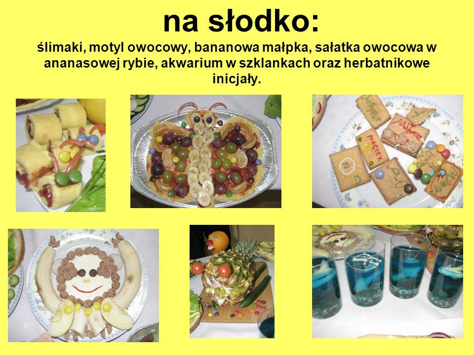 z warzywami: myszki z jajek, jeżyki z sałaty i sera, warzywny zegar, wąż kanapkowy, krab, paw, kanapki z pastą jajeczną