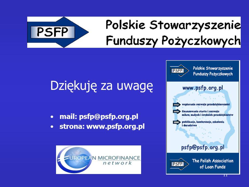 11 Dziękuję za uwagę mail: psfp@psfp.org.pl strona: www.psfp.org.pl