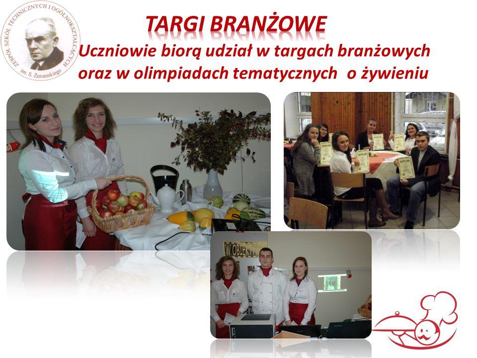 Uczniowie biorą udział w targach branżowych oraz w olimpiadach tematycznych o żywieniu