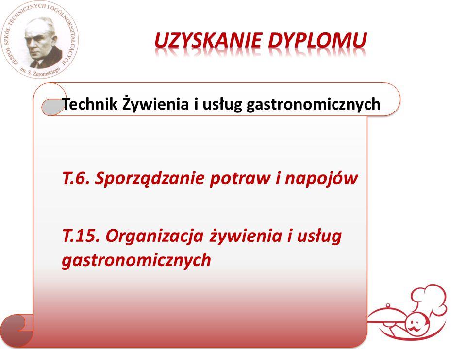 T.6. Sporządzanie potraw i napojów T.15.
