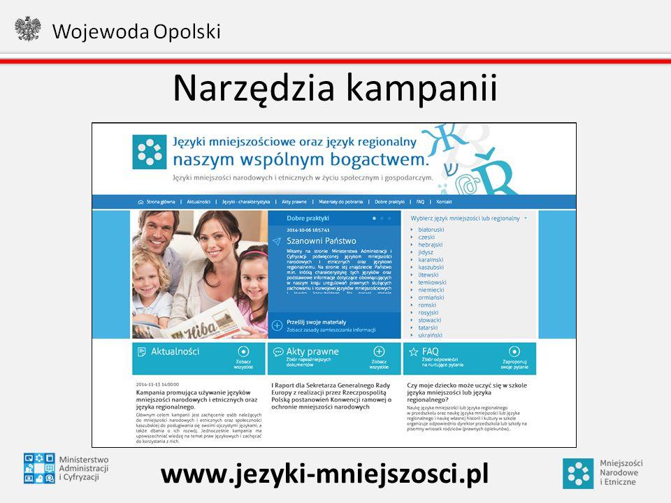 Narzędzia kampanii www.jezyki-mniejszosci.pl