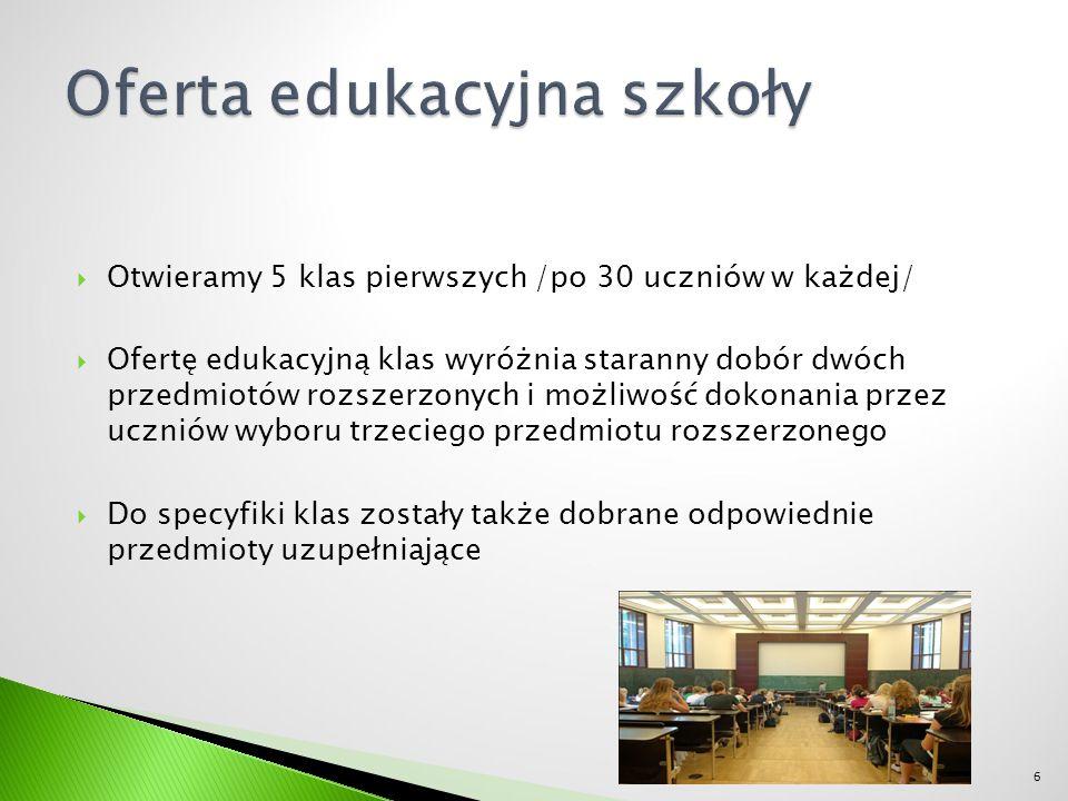  Dobre wyniki absolwentów osiągane na egzaminie maturalnym: ◦ Zdawalność egzaminu maturalnego 100%, w kraju 71% ◦ Język polski poziom podstawowy 60% -70%, w kraju 50% ◦ Matematyka podstawowa 70% - 74%, w kraju 49% ◦ Język angielski poziom podstawowy 89% -91%, w kraju 70%  Absolwenci naszej szkoły z powodzeniem studiują w najbardziej znanych warszawskich uczelniach 17