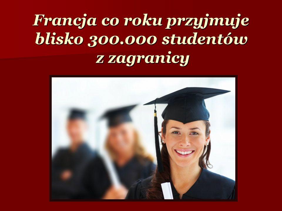 Francja co roku przyjmuje blisko 300.000 studentów z zagranicy