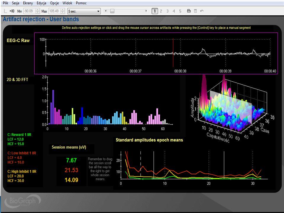 Ekran terapeuty: przeglądanie i analiza sesji.