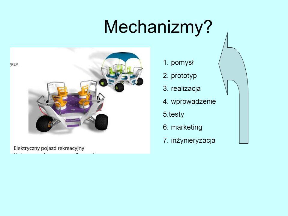 Mechanizmy. 1. pomysł 2. prototyp 3. realizacja 4.