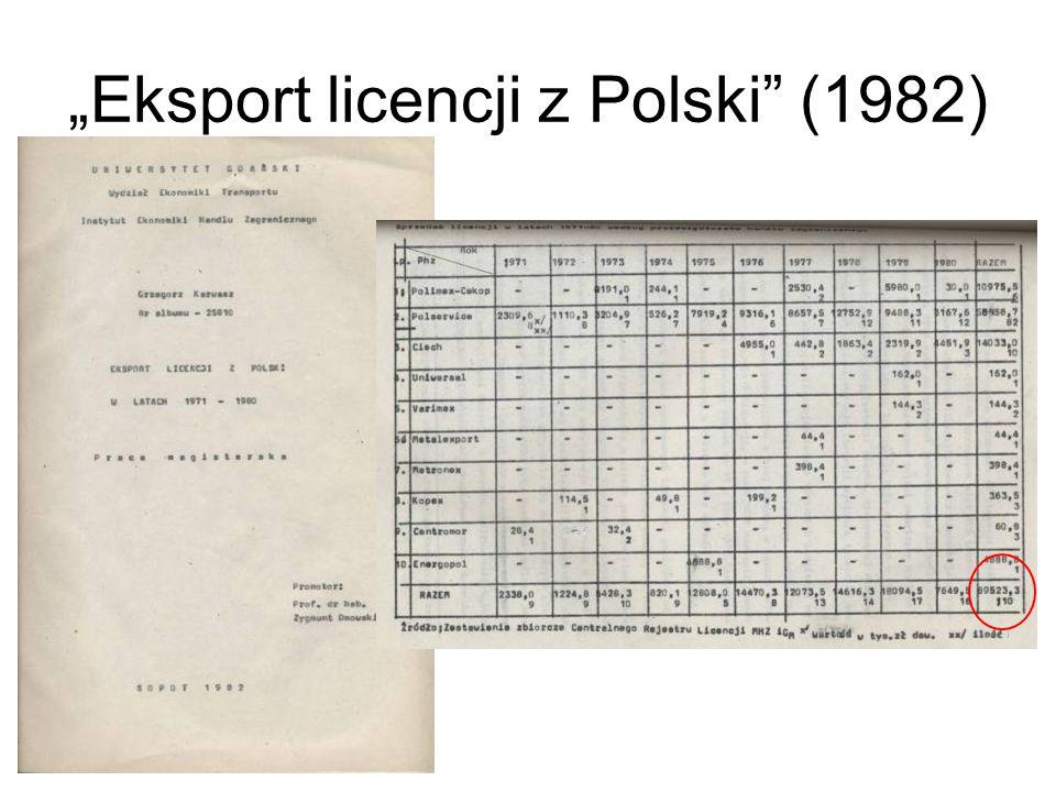 """Eksport licencji z Polski (1982)"