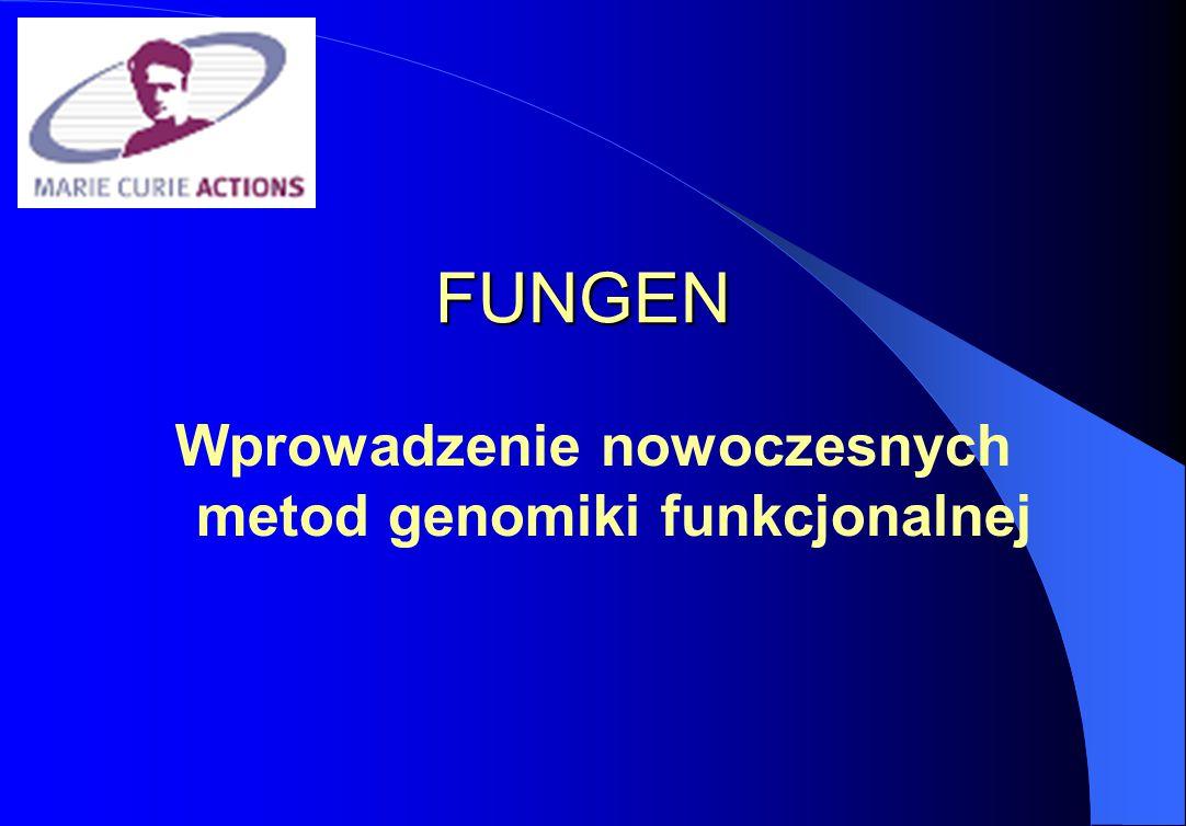 FUNGEN Wprowadzenie nowoczesnych metod genomiki funkcjonalnej