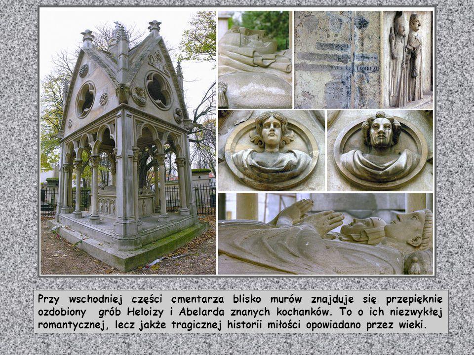 Przy wschodniej części cmentarza blisko murów znajduje się przepięknie ozdobiony grób Heloizy i Abelarda znanych kochanków.