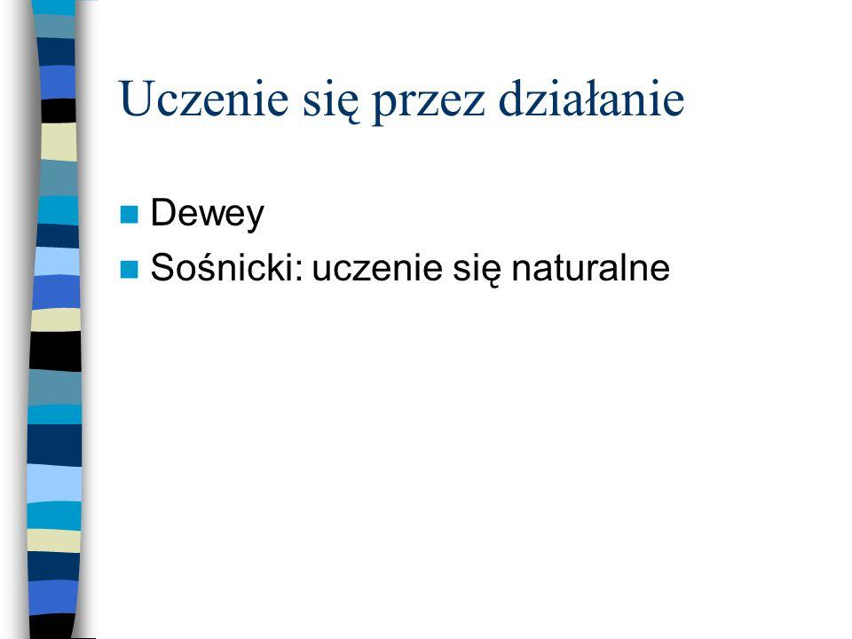 Uczenie się przez działanie Dewey Sośnicki: uczenie się naturalne