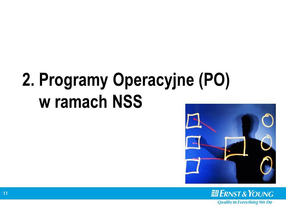 11 2. Programy Operacyjne (PO) w ramach NSS