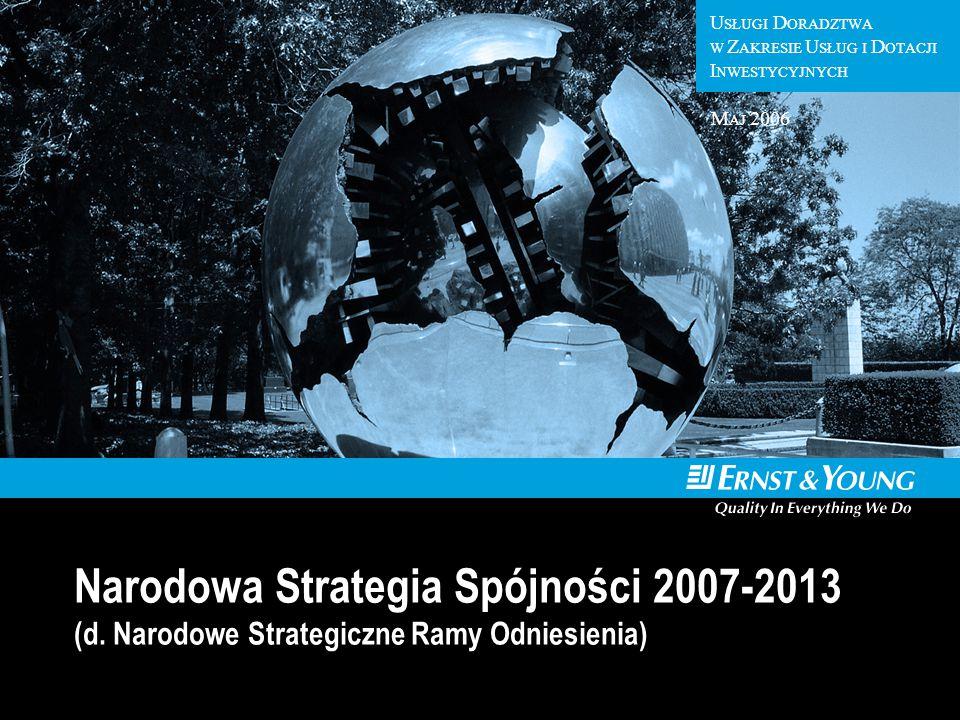 U SŁUGI D ORADZTWA W Z AKRESIE U SŁUG I D OTACJI I NWESTYCYJNYCH Narodowa Strategia Spójności 2007-2013 (d. Narodowe Strategiczne Ramy Odniesienia) M