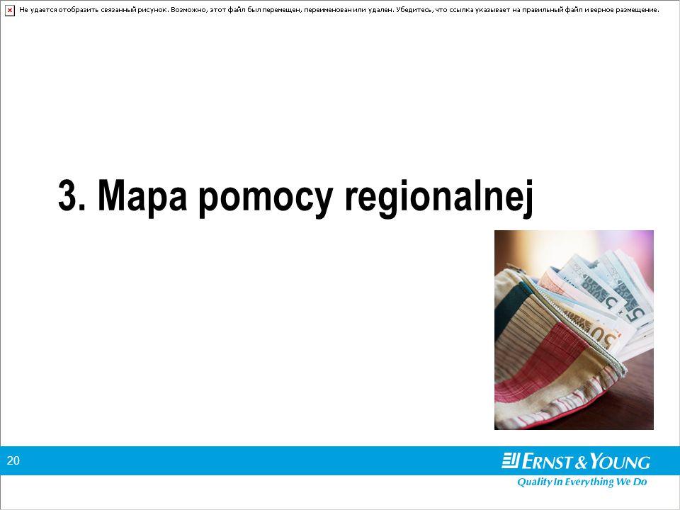 20 3. Mapa pomocy regionalnej