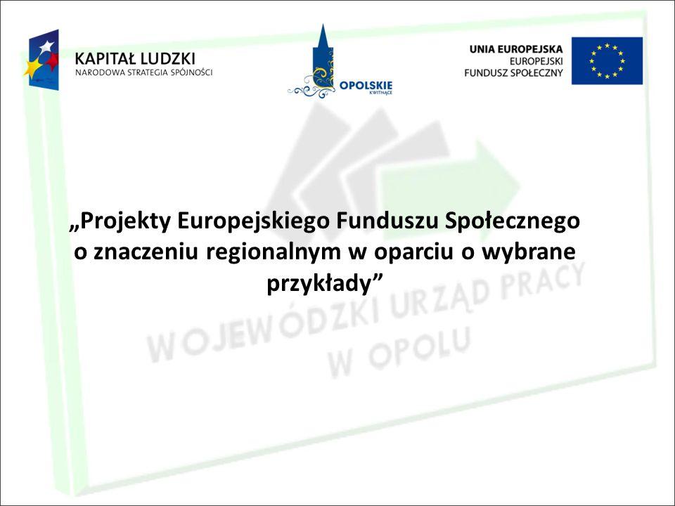 """""""Projekty Europejskiego Funduszu Społecznego o znaczeniu regionalnym w oparciu o wybrane przykłady"""""""