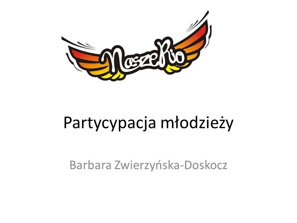 Partycypacja młodzieży Barbara Zwierzyńska-Doskocz