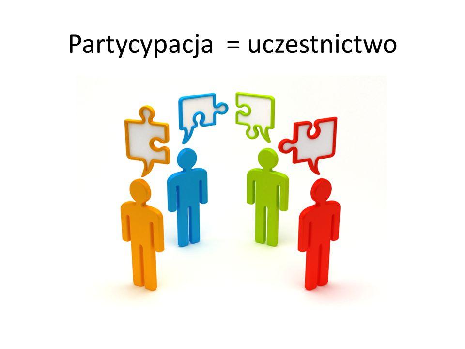 Partycypacja = uczestnictwo