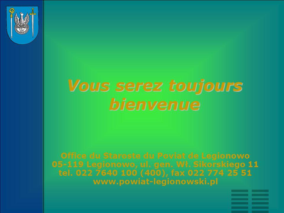 Office du Staroste du Poviat de Legionowo 05-119 Legionowo, ul. gen. Wł. Sikorskiego 11 tel. 022 7640 100 (400), fax 022 774 25 51 www.powiat-legionow