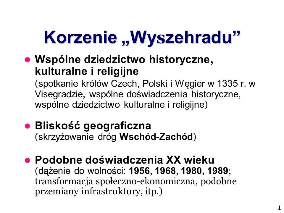 """Korzenie """"Wy s zehradu"""" Wspólne dziedzictwo historyczne, kulturalne i religijne ( spotkanie królów Czech, Polski i Węgier w 1335 r. w Visegradzie, wsp"""