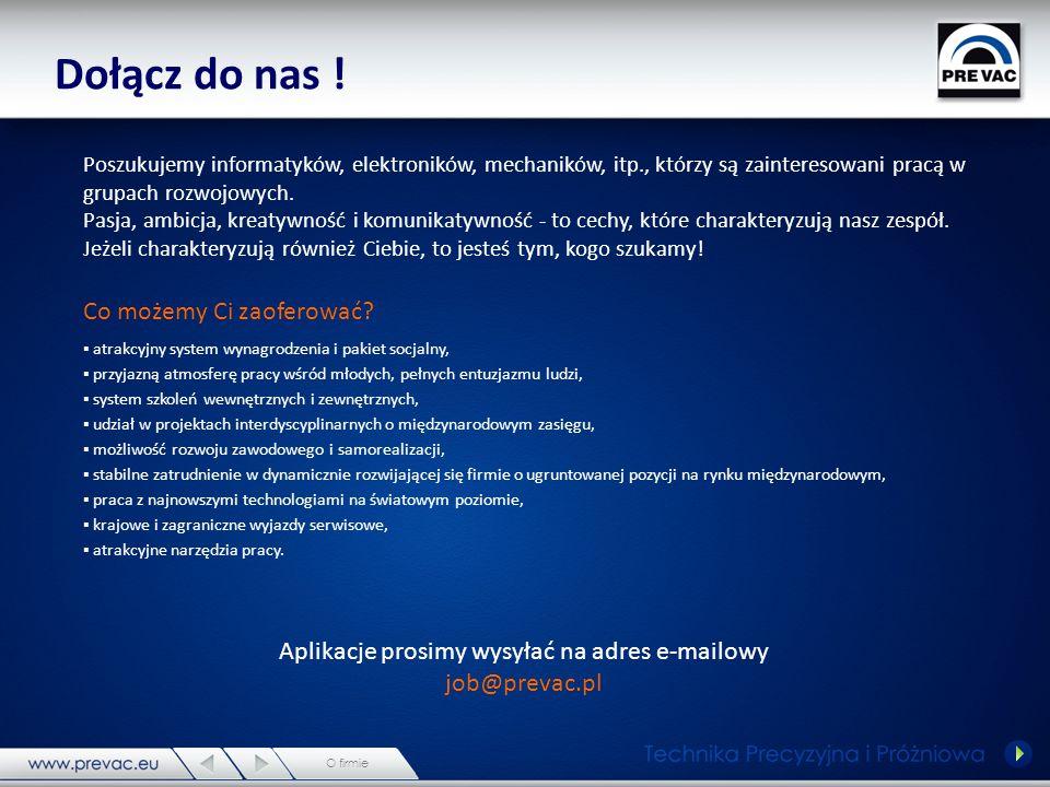 PREVAC sp.z o.o. 44-362 Rogów ; ul.