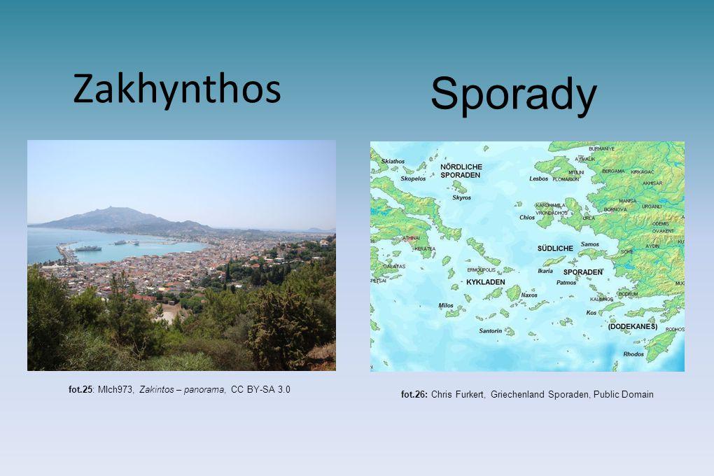 Zakhynthos fot.25: MIch973, Zakintos – panorama, CC BY-SA 3.0 Sporady fot.26: Chris Furkert, Griechenland Sporaden, Public Domain