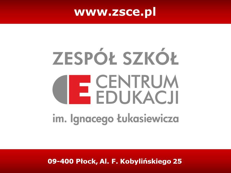 09-400 Płock, Al. F. Kobylińskiego 25 www.zsce.pl