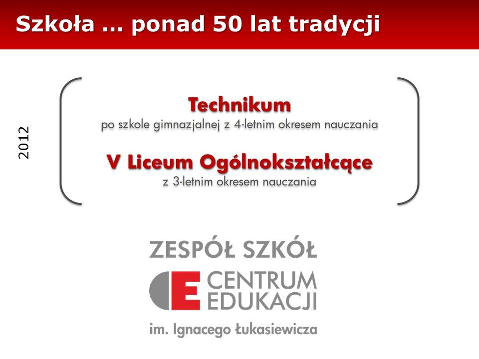 Szkoła … ponad 50 lat tradycji 2012
