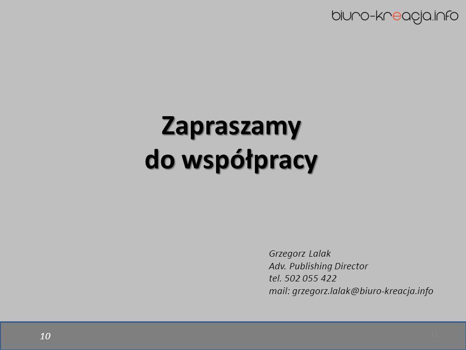 *dane Google Analytics z marca 2015 10 11 Zapraszamy do współpracy Grzegorz Lalak Adv.