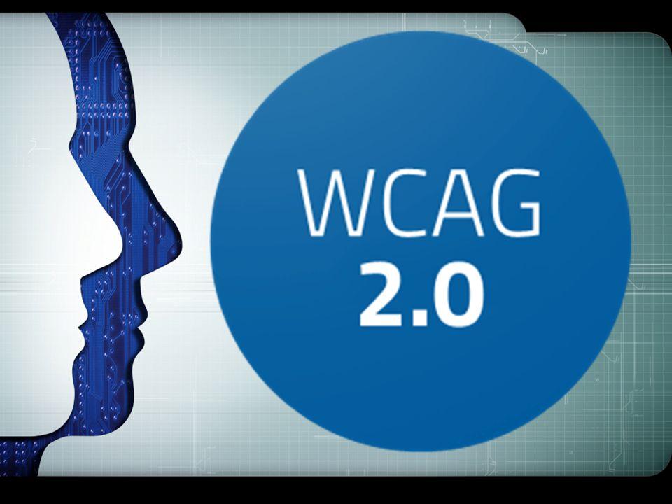 Web Content Accessibility Guidelines (WCAG) Authoring Tool Accessibility Guidelines (ATAG) User Agent Accessibility Guidelines (UAAG) Dlatego z inicjatywy Konsorcjum W3C (The World Wide Web Consortium), zrzeszającego największe firmy i organizacje świata powstała tzw.