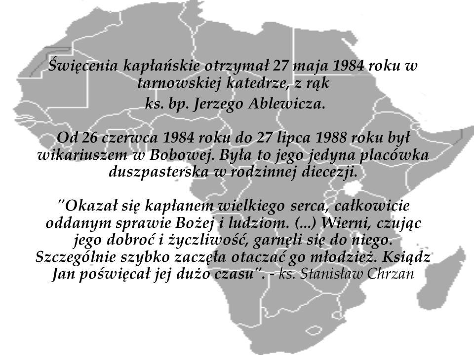 Święcenia kapłańskie otrzymał 27 maja 1984 roku w tarnowskiej katedrze, z rąk ks. bp. Jerzego Ablewicza. Od 26 czerwca 1984 roku do 27 lipca 1988 roku