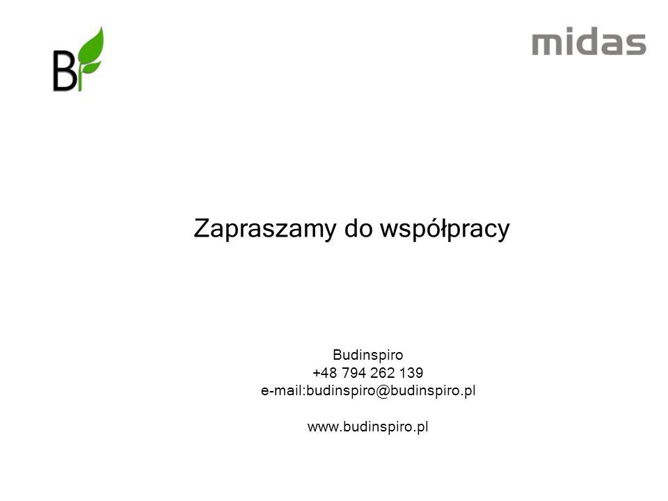 Zapraszamy do współpracy Budinspiro +48 794 262 139 e-mail:budinspiro@budinspiro.pl www.budinspiro.pl