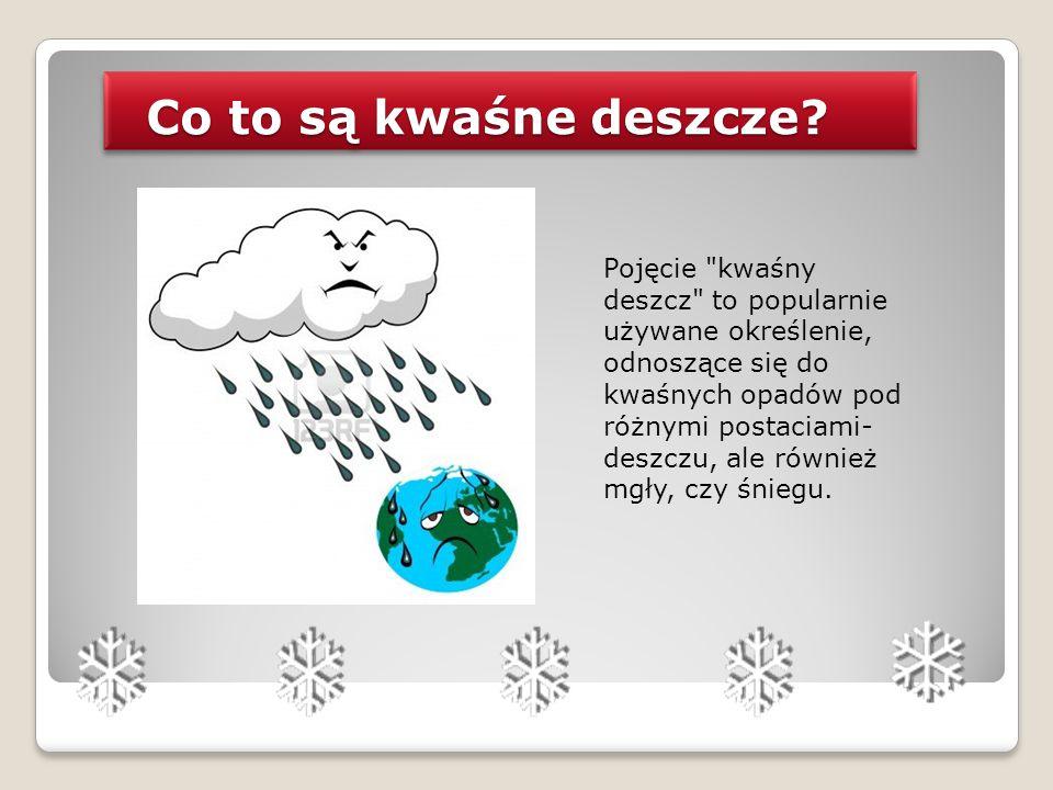 Co to są kwaśne deszcze? Co to są kwaśne deszcze? Pojęcie